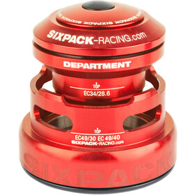 Sixpack Department 2In1 Balhoofdlager EC3449/28.6 I EC49/30 and EC34/28.6 I EC49/40, red
